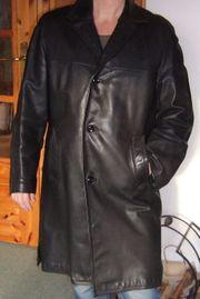 schwarzer Ledermantel Größe M