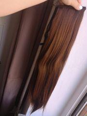 sentetic Haar Perücke angehängte Haare