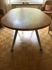 Tisch mit Buchenplatte oval