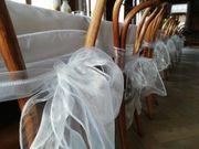 Hochzeit weiße Schleifen für Stühle