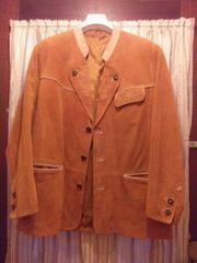 Neue Echt Leder Trachteten Jacke