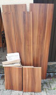 Sitzbank Nußbaumholzfurnier neu