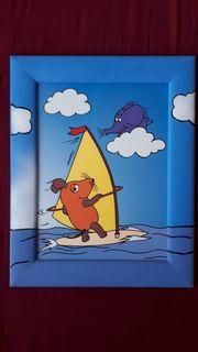 Kinderzimmer Bild Maus mit handgemalten