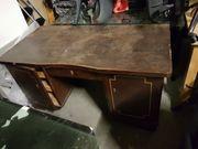 alter Schreibtisch massiv zum Restaurieren