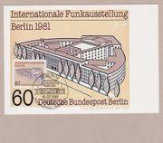 Maximumkarte Internationale Funkausstellung Berlin 1981