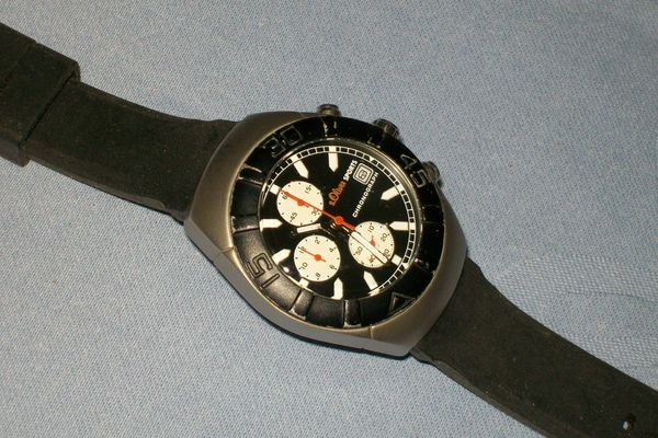 S Oliver-Sport Chronograph Quartz-Herrenuhr gebraucht