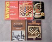 5 Schach-Bücher z T seltene