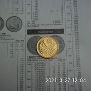1 DM 1994 D vergoldet