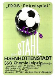 BSG Chemie Leipzig Pokalspiel in
