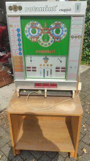 Alter Geldspielautomat rotamint exquisit 1971