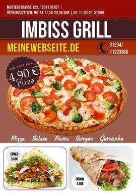 Pizza Flyer, Flyer Lieferservice, A5, 2 Seiten. 5000 Stck nur 259 EUR