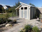 Gartenhaus Massivholz neuwertig im September
