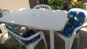 Gartentisch incl 4 Stühle