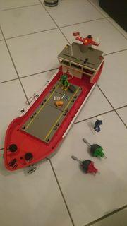 PLAYMOBIL 4472 4470 Containerschiff Hafenkran