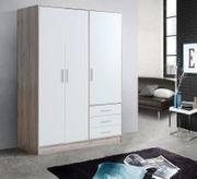 Kleiderschrank 145x200 cm Eiche Weiß