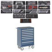 Werkstattwagen 7 Schubladen gefüllt 15