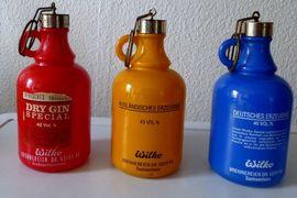Glas, Porzellan antiquarisch - 3 Gallon Bottel original 70er