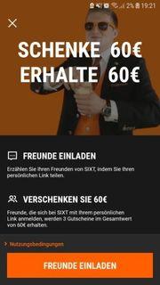 sixt Gutschein 60 kostenlos