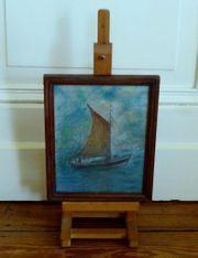 Maritim altes Gemälde sig