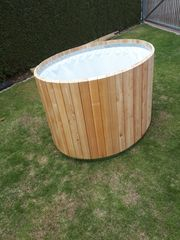 Hochbeet Oval aus Lärchen Holz