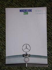 Mercedes Benz Prospekt 220D Anfang