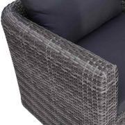 Lounge Sitzgruppe Garten-Sofagarnitur mit Polstern
