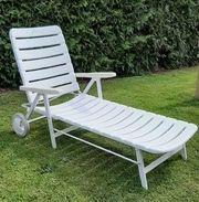 Bequeme Gartenliege Sonnenliege weiß Marke
