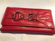 Damen Geldtasche Geldbörse rot