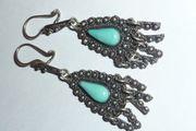 Art Deco Ohrringe Silber 925