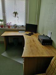 Schreibtisch von Hülsta Erle massiv