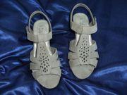Damen Sandalen Pumps 37Beige Sandaletten