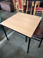 Esstisch Single-Esstisch 80x80x72 mit 2 Stühlen