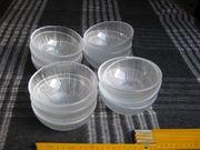 12 schöne Glasschälchen Kompottschalen