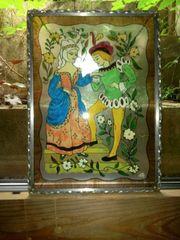 Glasbild mit Bleirahmen Glasmalerei
