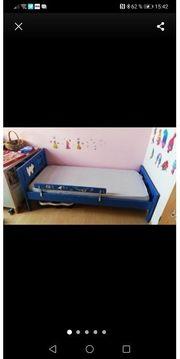 Kinder Bett Blau