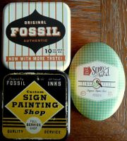 Fossil - dekorative Schmuckdosen- 3 Stück