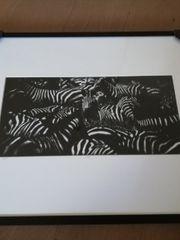 Fotografie Zebra schwarz-weiß von Laurent