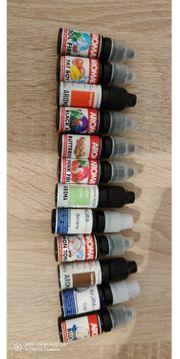 Verschiedene Aromen für Dampfer E-Zigarette
