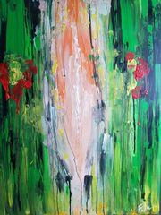 Abstrakt Acrylbild Green