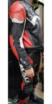 Lederkombi Handschuhe und Helm