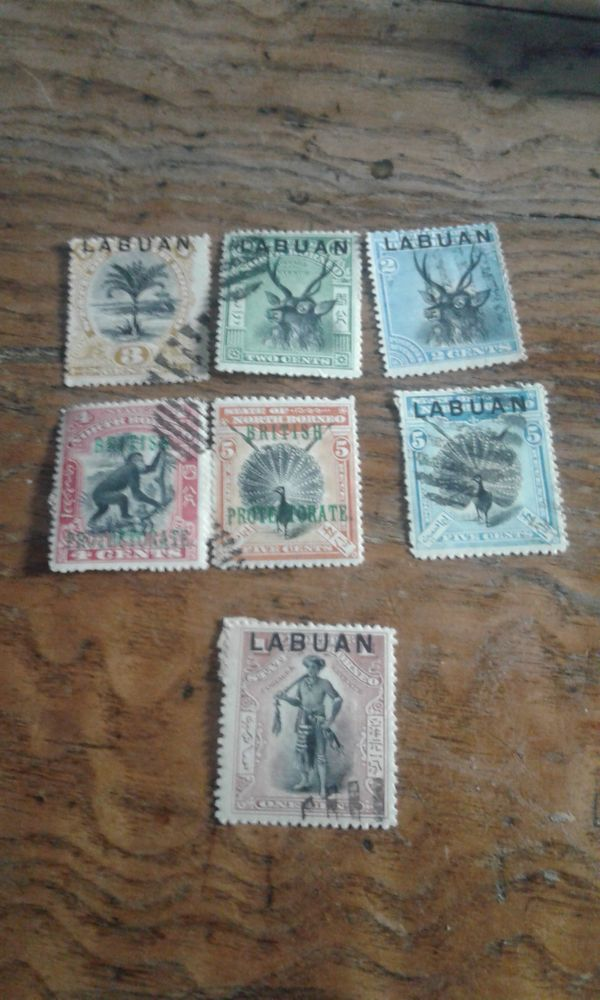 Briefmarken Borneo Labuan