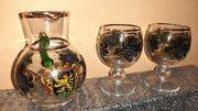 Weinkaraffe mit 2 Gläsern