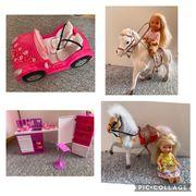 Barbie Co Zubehör Pferde ab