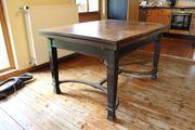 Esszimmertisch aus der Gründerzeit Massivvollholz