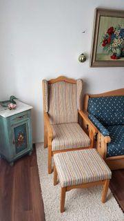 Ohrenbacken Sessel Fichte Natur zu