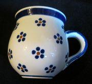 Bunzlauer Keramik - 4 Kugelbecher ca