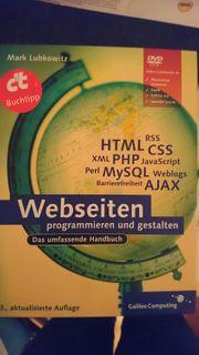 Umfangreiches Fachbuch Webseiten programmieren und