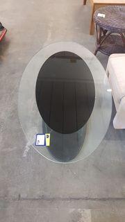 Couchtisch oval mit Glasplatte schön -
