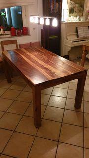 Massiv Holztisch Teak 160x90 cm