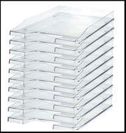Ablagekörbe DIN C4 Kunststoff glasklar